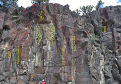 Rock Climbing Photo: Left Section of South of the Border with excellent...