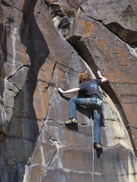 Rock Climbing Photo: Terran Engle, Scared Stiff, 11a (Mar 2012)