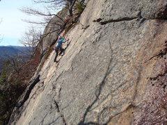 Rock Climbing Photo: Yuki dances up Action Steps