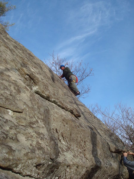 Mike on one of his favorite routes: Giucco Piano