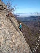 Rock Climbing Photo: Erika enjoys a late season run up Firecracker.