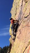 Rock Climbing Photo: Me after the 4th pitch traverse.  So fun!