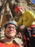 Rock Climbing Photo: Me and Riley Friesen at the top of pitch 4.