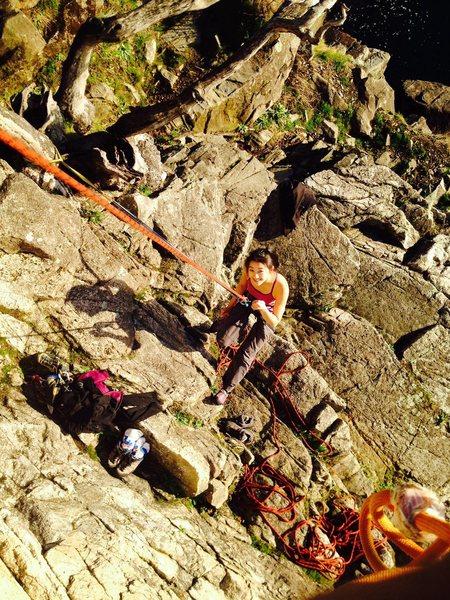 Tank top climbing in WON GOH WAH in december