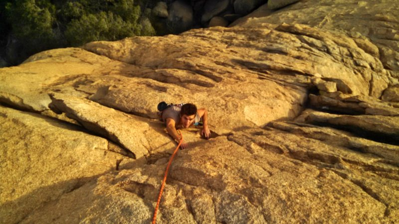 Rock Climbing Photo: A top down perspective of the upper half of the ro...
