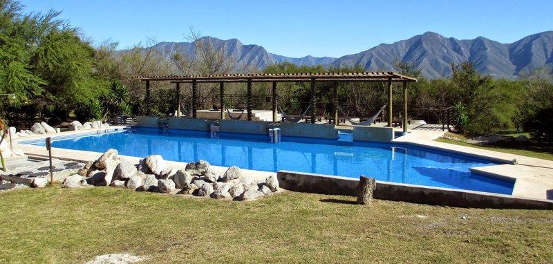 Rock Climbing Photo: hammocks & pool