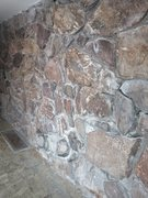 Rock Climbing Photo: The grimy middle section has lots of mineral depos...