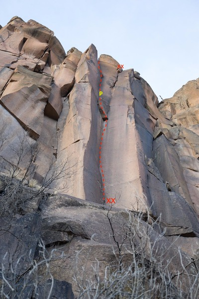 W&W could use an independent anchor above the left exit. (Next time I'm in Cap!) After the FA I topped out the cliff and walked right to the anchors above the right exit to clean gear. The right exit is a worthy line as well, and eliminates a couple cruxes in exchange for some straightforward 10- OW climbing.
