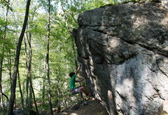 Rock Climbing Photo: Cave Boulder, Lincoln Woods, RI