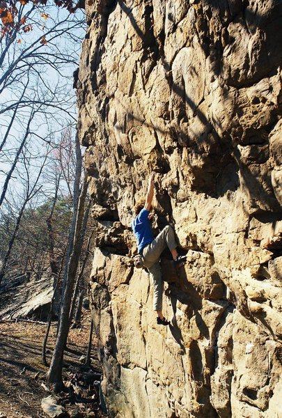 Rock Climbing Photo: Rope-less on Horseshoe Canyon Ranch 5.11