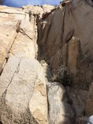 Rock Climbing Photo: Looking up Chim Chimney with the lower, poorly pro...