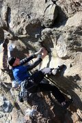 Rock Climbing Photo: Jeremy getting steep