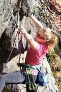 Rock Climbing Photo: Clipping in the middle of the business