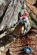 Rock Climbing Photo: Two nice young ladies I met at the cliff. She was ...