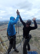 Rock Climbing Photo: high five