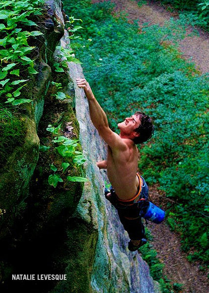 Dave McClennan climbing Hot Monkey Love