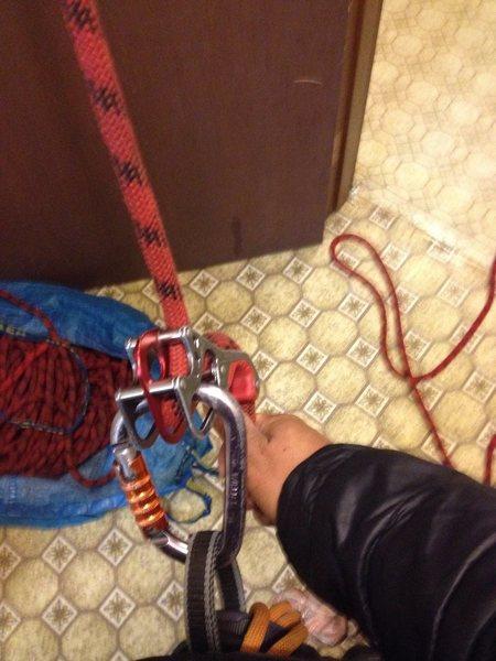 Rope stuck