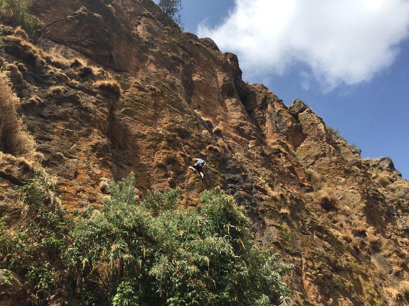 Rock Climbing Photo: Nico leading, Kera belaying Almaz