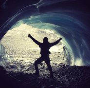 Chilling in the ice caves