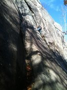 Rock Climbing Photo: Standard route Cathedral Ledge