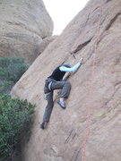 "Rock Climbing Photo: Working the lower face of ""Rhinestone Cowboy...."