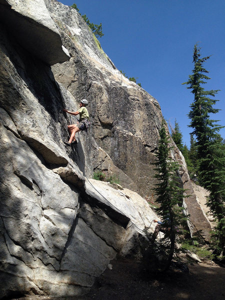 Rock Climbing Photo: Doug cheating time...