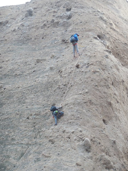 Rock Climbing Photo: Climbers on Tethys.