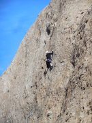 "Rock Climbing Photo: Nearing the crux of ""Itsy Bitsy Spider."""
