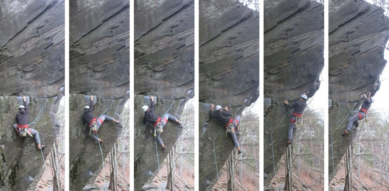 Rock Climbing Photo: Spidey Scott dispatching that crux...