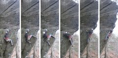 Rock Climbing Photo: Spidey Scott dispatching that crux...