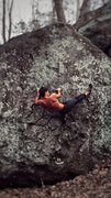 Rock Climbing Photo: Trying to work my way up Super B