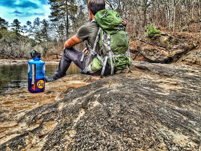 Rock Climbing Photo: River picture on the way in, with some of Falling ...