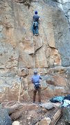 Rock Climbing Photo: Some of the moves are entertaining. This would be ...