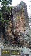 Rock Climbing Photo: T-Zero Rock Formation:  T-Zero West Face aka Finge...