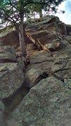 Rock Climbing Photo: Wide Crack, 5.4.