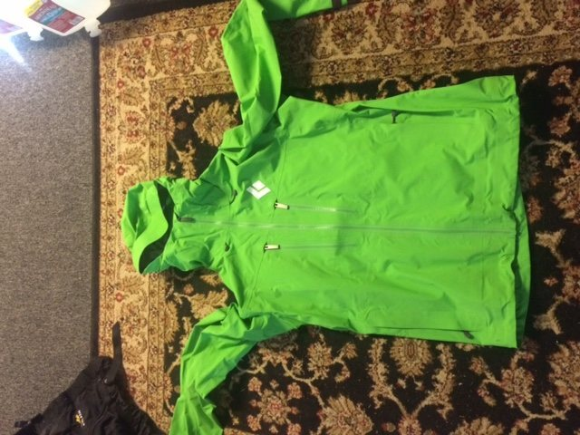 Convergent Hoody- Color: Vibrant Green $125 shipped. This is a killer jacket for ice, skinning, or anything Alpine. I just don't use it enough to justify keeping it.