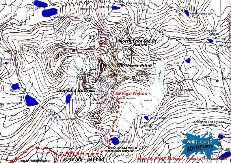 We met Mr Savage at Met Station Camp and he was fine with me using his excellent map of Mount Kenya.  <br> <br> I would certainly hire Savage Wilderness on my next trip to the big free climbs.  Forget Patagonia, brrrrr!