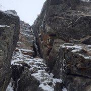 Rock Climbing Photo: P1, Hessie Chimney - Saturday 12/12/2015.