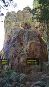 Rock Climbing Photo: Side view of 2nd Pinnacle, NW Corner.