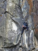 Rock Climbing Photo: Nick Vitali, Happy Happy Joy Joy, 10d (April 2014)