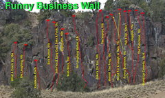 Rock Climbing Photo: Funny Business Wall