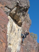 Rock Climbing Photo: Terran Engle, Run for the Border, 11b (Mar 2012)