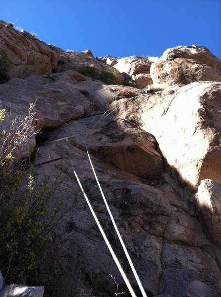Rock Climbing Photo: The right-facing corner at the beginning of Pitch ...