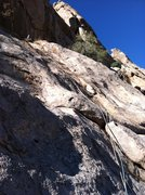 Rock Climbing Photo: Upper half of Pitch 3. Photo Marc Tarnosky.