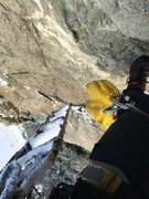 Rock Climbing Photo: Solo aiding at the tunnel crag