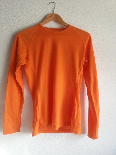 Rock Climbing Photo: Icebreaker Bodyfit 200, Tangerine, W's Large (fits...
