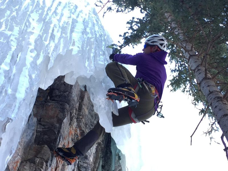 Psyched to finally get a chance to do this route with a bit of ice on it - FUN!  March 2015.