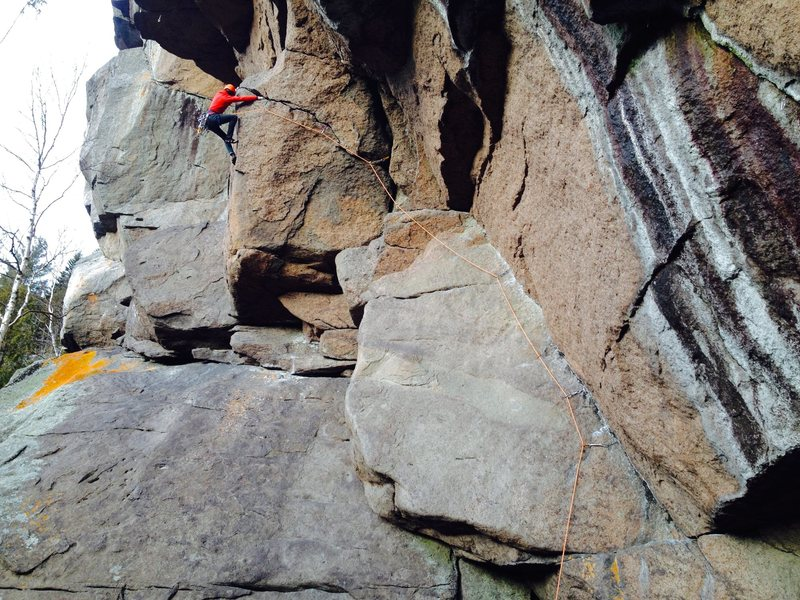 Rock Climbing Photo: me finishing the crux section