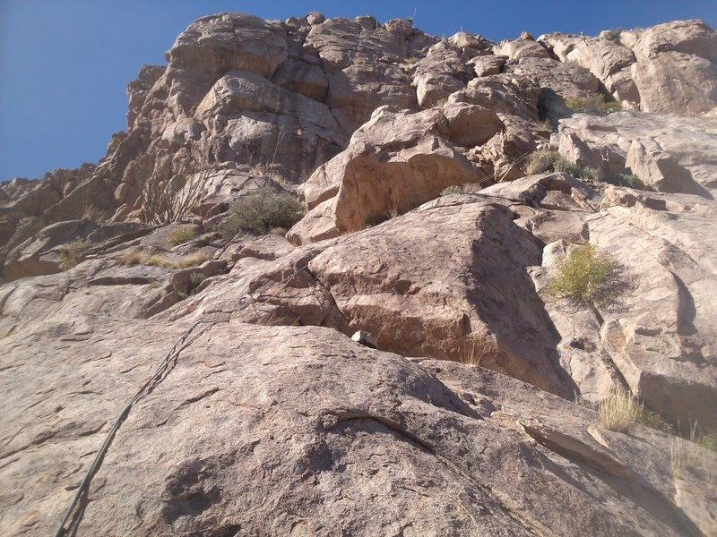 Rock Climbing Photo: First half of Pitch 2. Photo Elijah Schold.