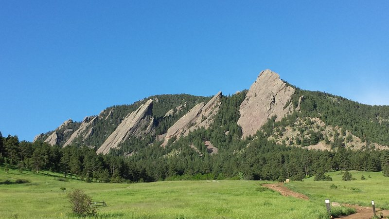 The beautiful Flatirons